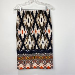 Maeve Anthropologie tribal print pencil skirt NWT